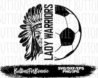 soccer svg warriors svg emblem cricuit team svg shirt design iron on soccer Mom vector warriors soccer SVG digital cutting file