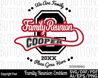8add38ec Family Reunion svg, Family Crest svg, Family Monogram svg, Swoosh svg,  template, cutting file, reunion svg, family shirt svg, cricut, pdf
