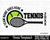 Tennis team svg, template, tennis mom svg, tennis shirt svg, cut file, cricut, name, tennis player svg, tennis ball, tennis racket, iron on