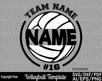 Volleyball Svg Template Mom Shirt Cut File Iron On Cricut Name Decal