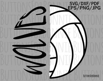 d16ba4b25 Wolves Volleyball SVG, Volleyball Mom, volleyball svg, wolf svg, cutting  file, cricuit, vector, emblem, iron on, shirt design, mascot svg