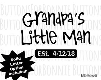 Grandpas Little Svg Etsy