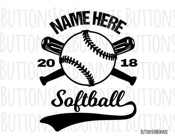 softball svg softball vector softball emblem softball team