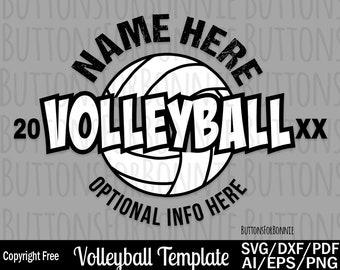 volleyball team svg
