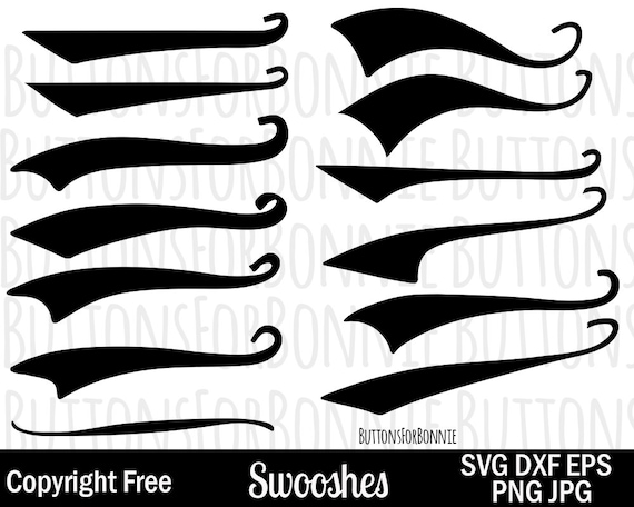 Font Tails SVG Vector Text Tails Font Swoosh Text Swoosh