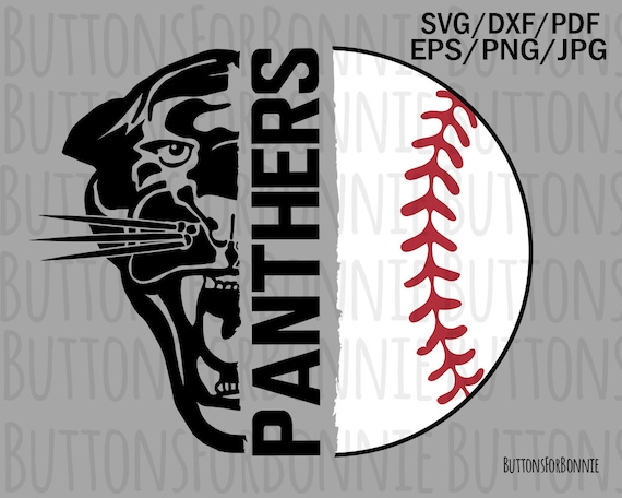 Panthers Baseball Svg Baseball Svg Baseball Mom Svg Cut Etsy