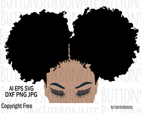Afro Svg Black Lady Svg Natural Hair Svg Curly Hair Svg Etsy