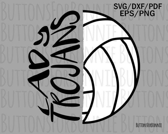 team spirit cut file volleyball mom svg lady trojan svg cricut lady trojan shirt volleyball svg mascot svg volleyball shirt svg