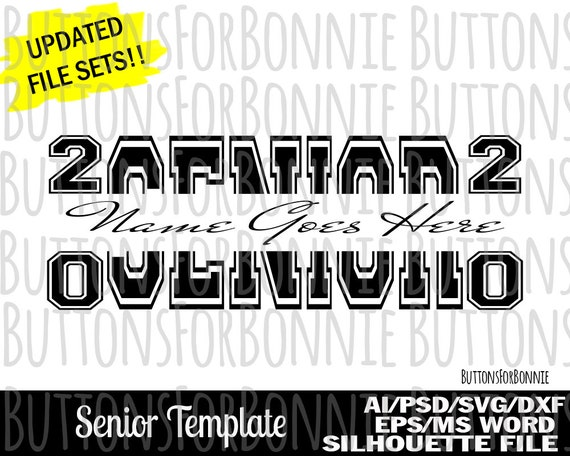 Senior 2020 Svg Senior Template Senior Svg Graduate Svg Etsy
