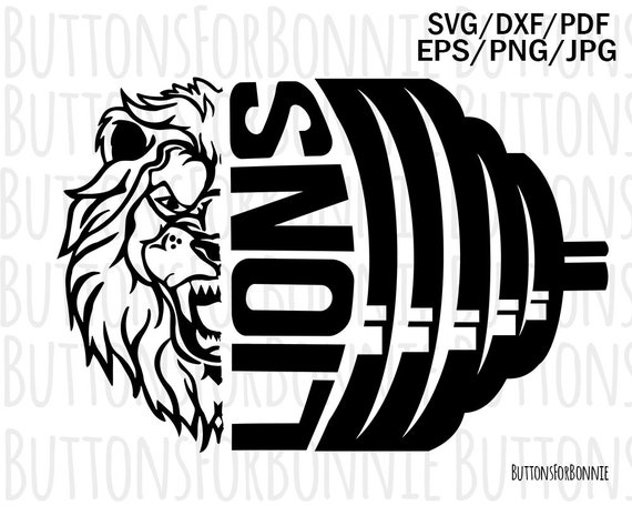 Lions Svg Powerlifting Svg Cut File Sports Svg Etsy