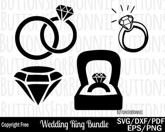 Wedding Ring Svg Ring Svg Wedding Svg Diamond Svg Etsy