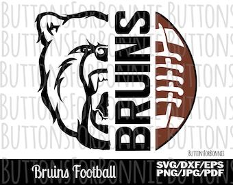Bruins football, football svg, football mom, digital cutting file, shirt design, team spirit, Bruins svg, iron on, cricut, school