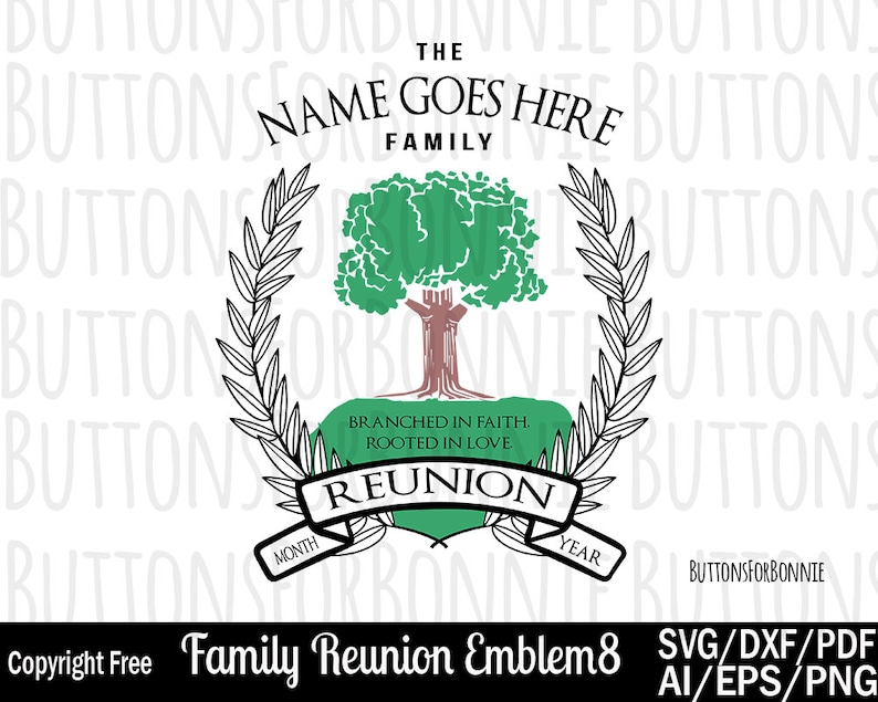 c22d5fd12c6 Family Reunion svg Rooted in love tree svg roots svg | Etsy