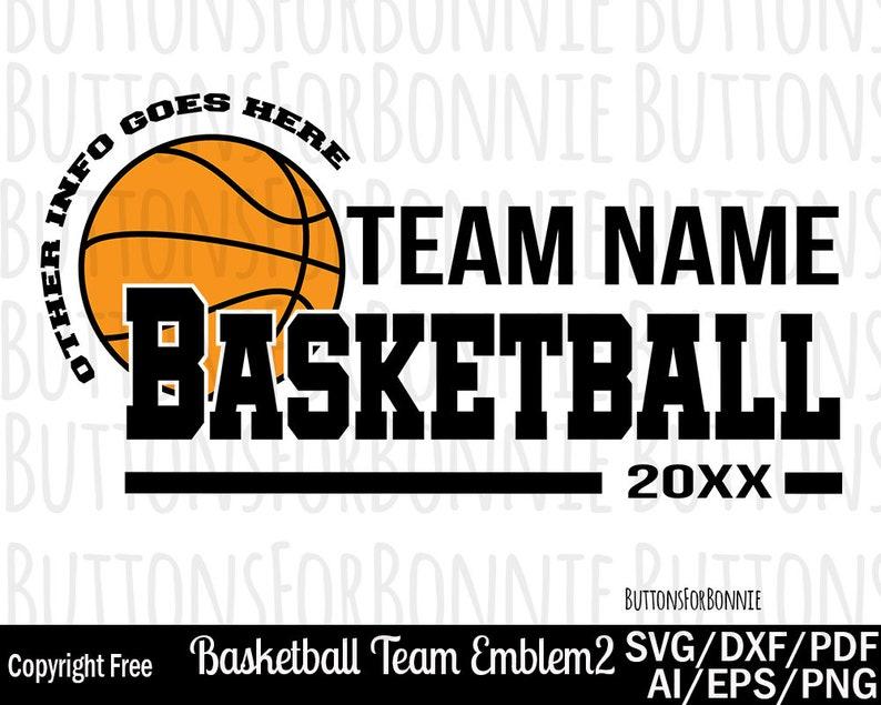 Basketball team svg, template, cutting file, basketball svg, name svg,  customize, personalize, basketball shirt design, emblem, cricut