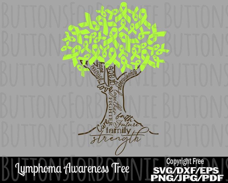 silhouette cancer awareness cutting file cancer shirt design lime ribbon Lymphoma awareness lymphoma svg ribbon svg cricut