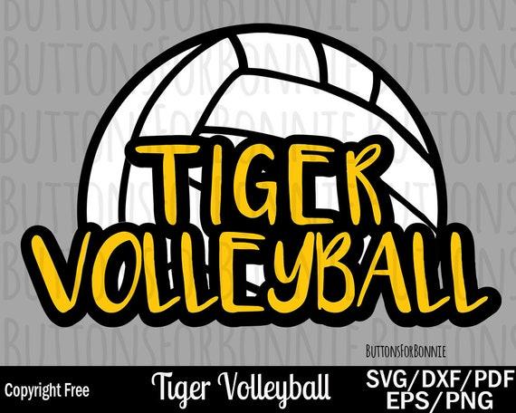 Tiger Volleyball Svg Volleyball Svg Volleyball Mom Svg Cut Etsy