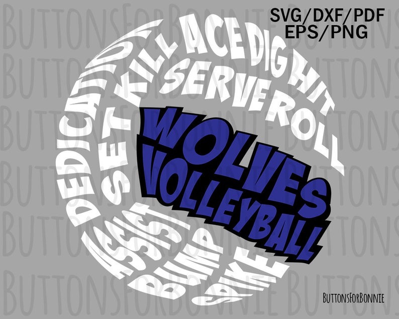 5018f5bfb Wolves Volleyball SVG Volleyball Mom volleyball svg hornet | Etsy