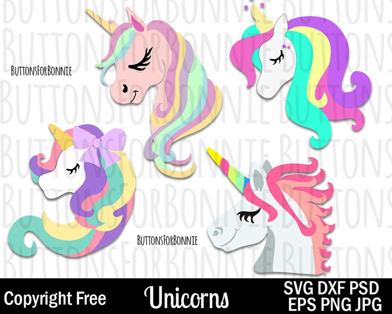 Unicorn SVG, Unicorn Vector, Cutting File, unicorn horn, star, sparkle, kid  shirt design, clipart, magic, pony svg, bow hair, swirl, rainbow