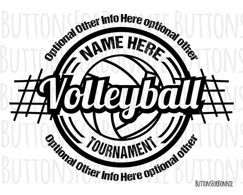 Volleyball Svg Volleyball Logo Volleyball Tournament