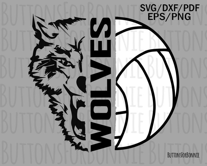 3dfba7b3a Wolves Volleyball SVG Volleyball Mom volleyball svg wolf | Etsy