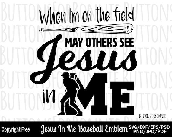 Baseball Svg Baseball Scripture Religious Svg Jesus In Me Etsy