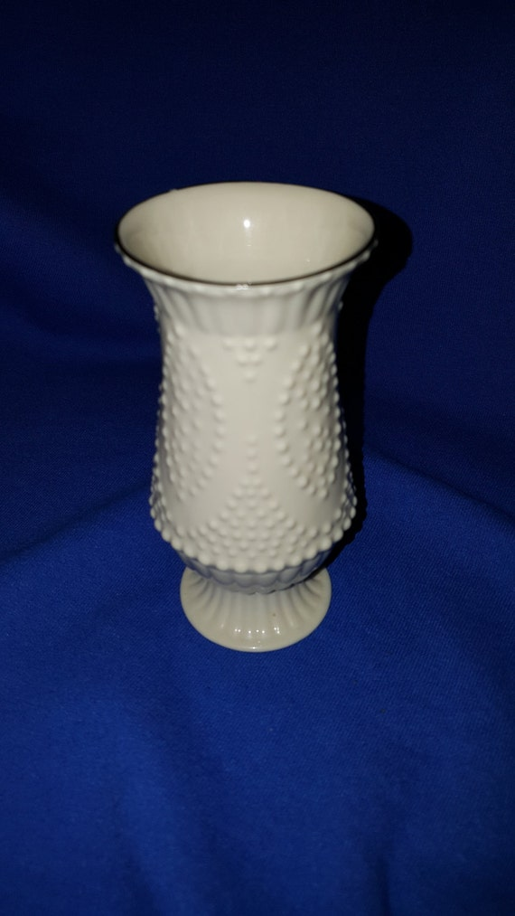 Lenox Porcelain Bud Vase With Hand Painted Gold Trim In Beaded Etsy