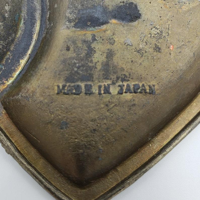 NJ Made In Japan C1950/'s Wildwood By The Sea Vintage Wildwood NJ Pot Metal Trinket  Ring Souvenir Dish Double Heart And Cupid Design