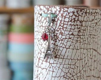 Plannercharm Eiffeltower - Charm for your Travelers Notebook with Swarovski Elements