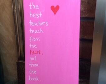 Teach from the Heart Canvas