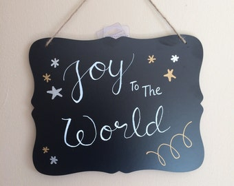 Joy to the World Chalkboard