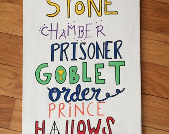 Harry Potter Books Canvas
