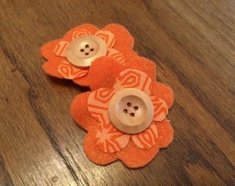 Orange on orange clip
