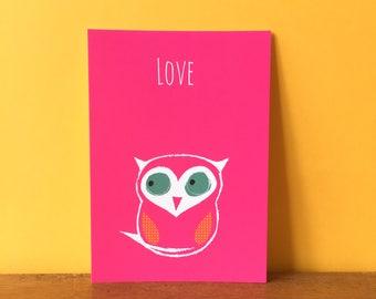 Owl Love A6 card