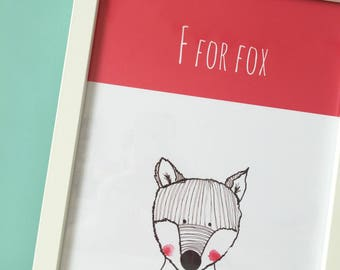 F For Fox A4 print