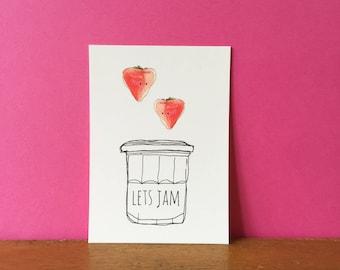 Lets Jam A6 card