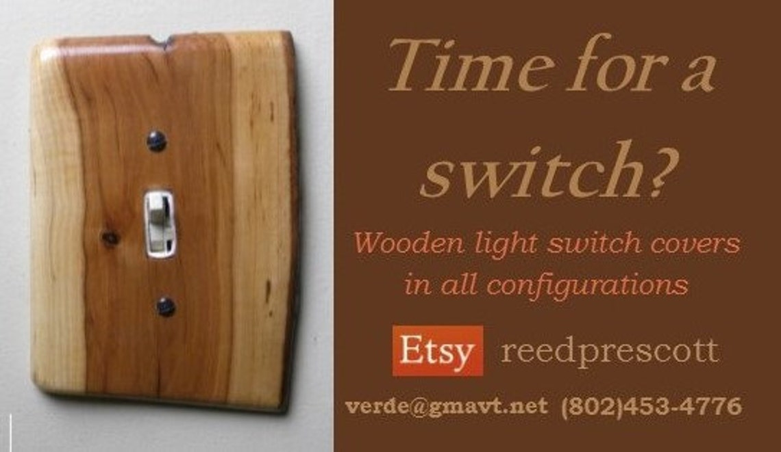 Vermont Pear Rustic Handmade Wood Light Switch Cover home decor diy accents for everyone switch plate - Eclairage