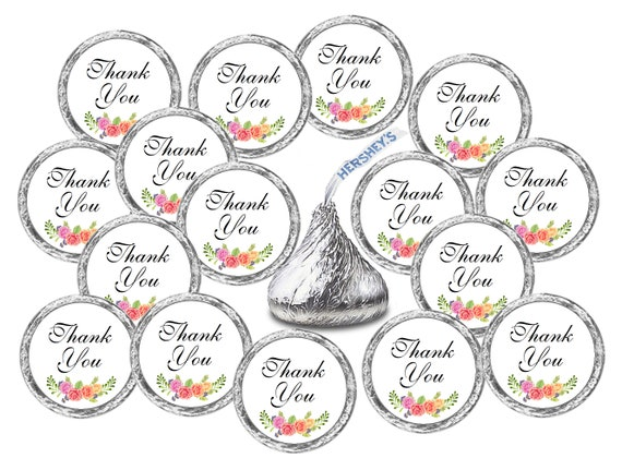 Hershey Kiss Wedding Stickers 324 Floral Roses Hugs and Kisses from The New Mr Hersheys Kisses Party Favors /& Mrs Chocolate Drops Labels Stickers for Weddings Bridal Shower Engagement Party
