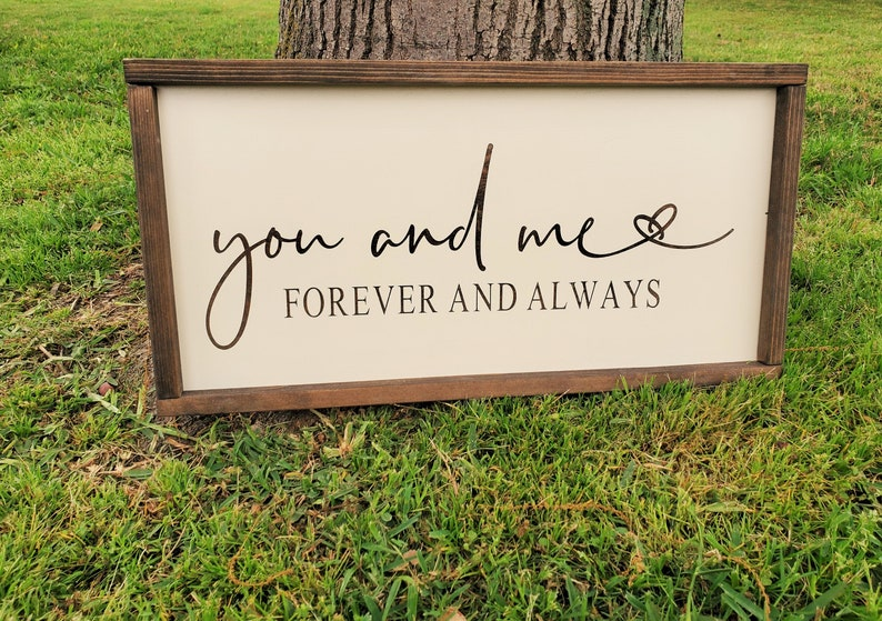 Engagement gift Farmhouse Wedding Sign You and Me Forever Together Wedding Decor Rustic Wood Sign