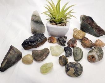 Mixed box of Jaspers, Agates & Jade