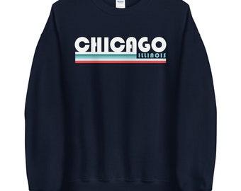 Chicago Retro Navy Unisex Sweatshirt