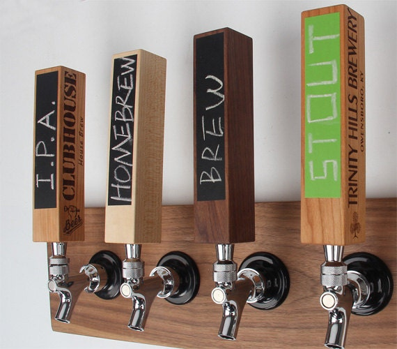 Custom Chalkboard Tap Handles Beer Lover Gifts Personalized Etsy