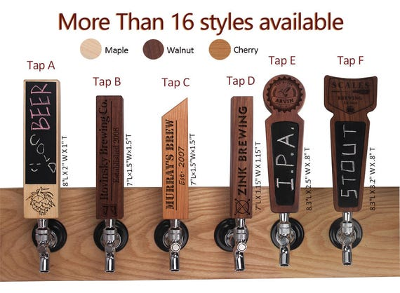 Personalized Beer Tap from Customized Tap Handle