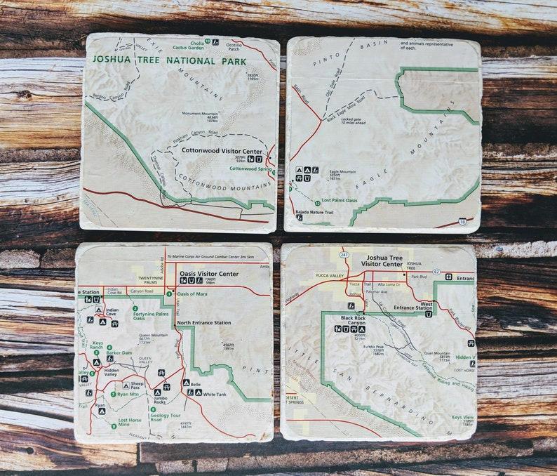 Joshua Tree National Park Coasters, Map Stone Coasters, Trail Map Coasters, on farmington canal map, henderson field map, watson island map, central point map, road map, street map, sam's point preserve map, roscommon county gis map, st. john's map, cloudland canyon yurt map, yellowstone county montana map, town of perinton ny map, route 66 scenic byway map, recapture canyon utah map, summit county colorado topo map, aep recreation lands ponds map, hiking map, st. catharines map,