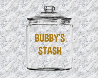 Personalized Cookie Jar - Cookie Jar - Treats Jar - Candy Jar - Grandparent Gift - Bubby - Bubbie - Grandmother - Custom Jar - Monogram Jar