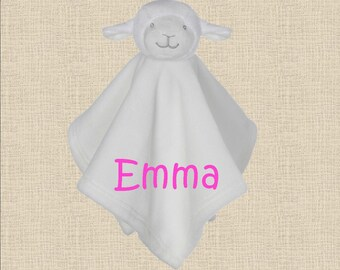 Cuddle Pal / Lovey / Blankie / Personalized Baby Gift / Custom Baby Gift / Baby Girl / Baby Boy / Lamb Lovie / Shower Gift / Baby Gift