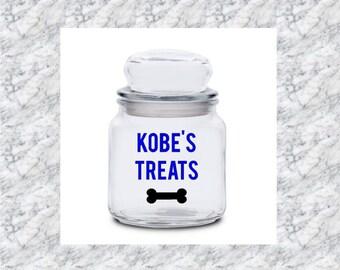 Personalized Candy Jar - Treats Jar - Sweets Jar - Housewarming Gift - Birthday Gift - Glass Jar - Custom Jar - Candies - Pet Treats - Dog