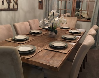 Rustic Dining Room Table - Reclaimed Wood and Lumber