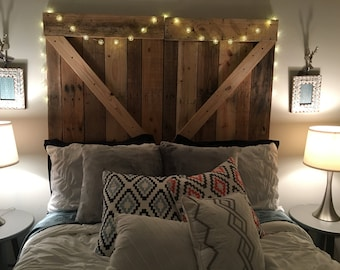 Awesome Rustic Barn Door Headboard Or Wall Art   The Emily   Free Shipping