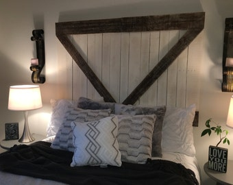 Headboard - Rustic Barn Door Headboard or Wall Art - The Haley -Free Shipping