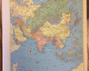 Hammonds world atlas etsy asia or the near east including turkey saudi arabia iraq iran afghanistan large map 1955 hammonds new supreme world atlas vintage gumiabroncs Choice Image